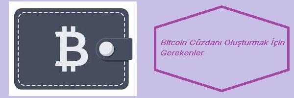 bitcoin cüzdan oluşturmak
