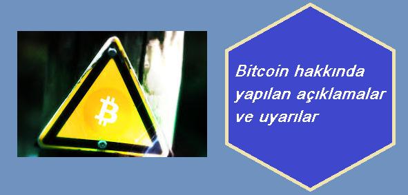 Bitcoin Hakkındaki Uyarılar