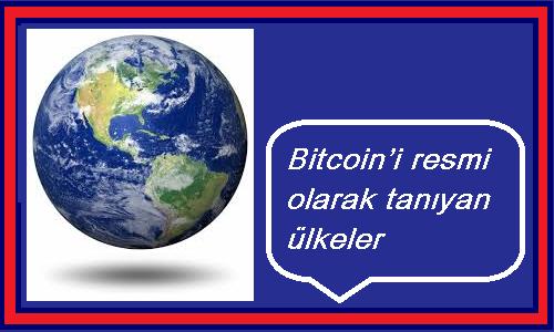 bitcoin'i tanıyan ülkeler