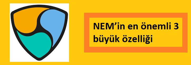NEM (XEM) coin özellikleri